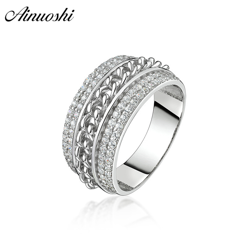 AINOUSHI Fashion 925 Sterling Silver Wedding Engagement Men Twisted Ring Male Silver Anniversary Ring Jewelry pero llama JewelryAINOUSHI Fashion 925 Sterling Silver Wedding Engagement Men Twisted Ring Male Silver Anniversary Ring Jewelry pero llama Jewelry