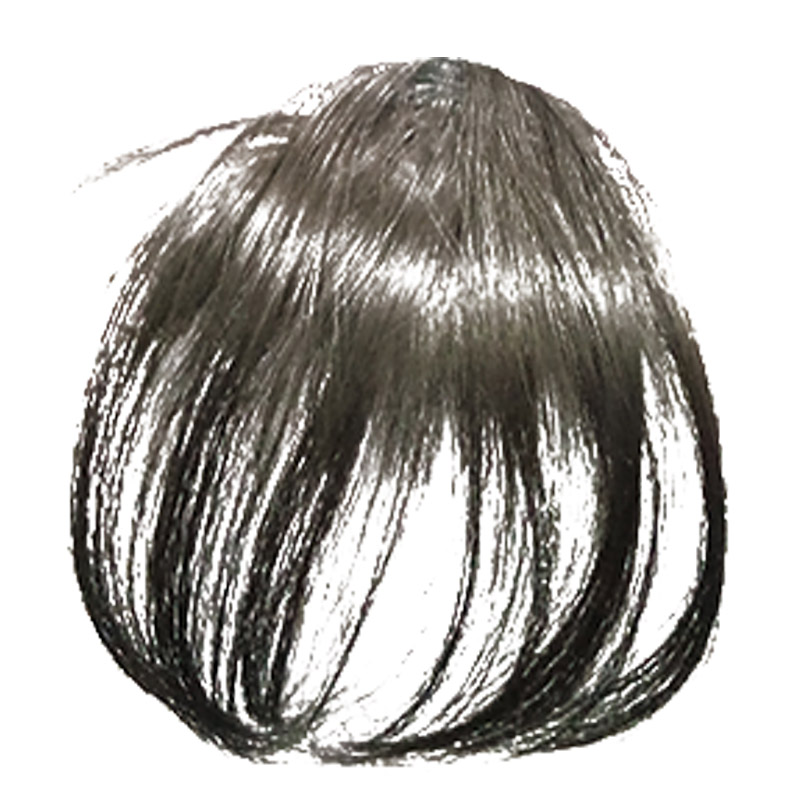 AOMU Short Fringe Bangs Front Hairpin In Hair Extensions Clip On Extension Hairpiece Black Brown Neat Bang For Girl Jewelry From