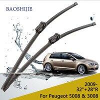 Car Wiper Blade For Peugeot 5008 32 28 Rubber Bracketless Windscreen Wiper Blades Wiper Blade Car