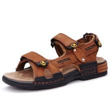 1a001e180 Meninos sandálias de couro Genuíno de alta qualidade Grande Menino crianças  sandálias de Praia sapatos de verão para meninos da .