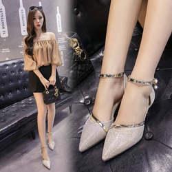 Женские туфли на высоком каблуке золотистого и серебристого цвета, женские пикантные туфли-лодочки с острым носком, модельные свадебные