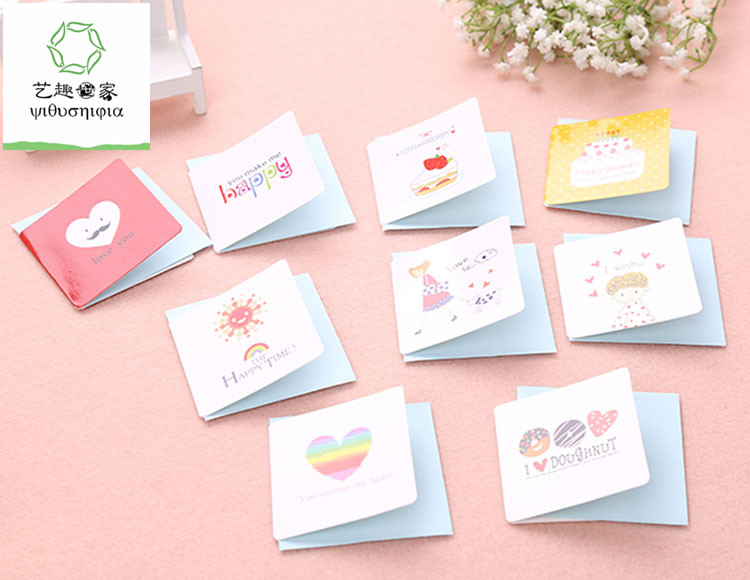 Excellent 168Pcs Lot Cute Small Birthday Cards Kids Small Happy Birthday Funny Birthday Cards Online Eattedamsfinfo