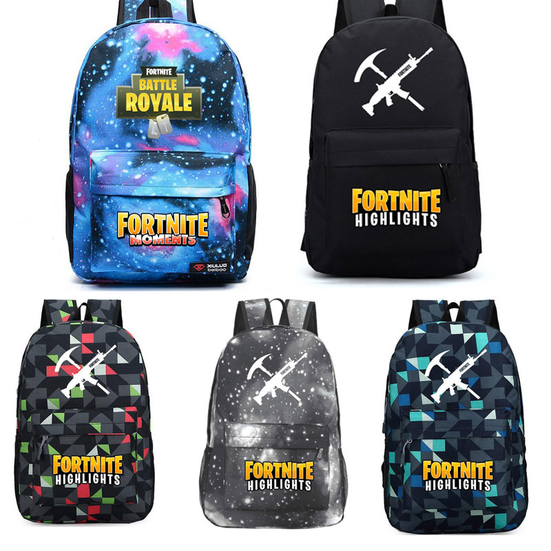 Game Fortnite Childrens School Bag Kids BTS Gift Bag Oxford Backpacks Bags Book Rucksacks Action Figure Toys Birthday Gifts