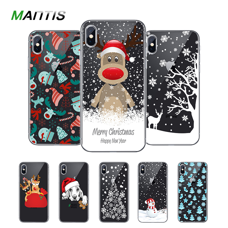Christmas Phone Case Iphone 7.Us 1 99 Mantis Christmas Phone Case For Iphone 7 X 5 5s Se 6 6s 8 Plus Xs Max Xr Soft Cute Christmas Hat Tpu Phone Cover Snowman Case In Fitted