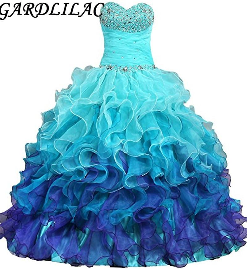 Gardlilac Organza Sweetheart Beading क्रिस्टल - विशेष अवसरों के लिए ड्रेस