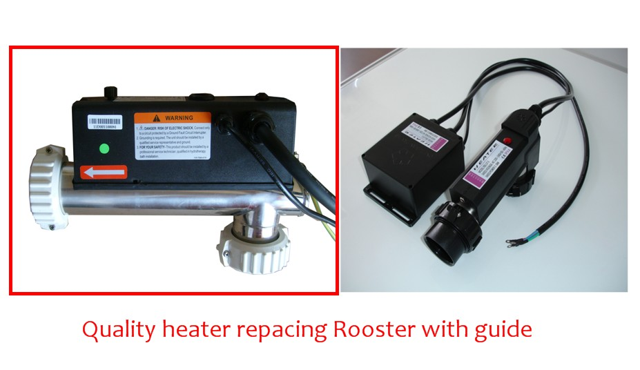 Reliable L shape hot tub heater 3KW for Chinese spa tub repalcing ...