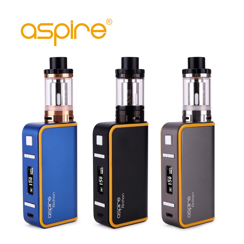Electronic Cigarette Kit Aspire Archon Box Mod Not Mechanical Mod + Cleito 120 Atomizer Tank 510 Thread Vape E-Cigarette Kit tvs golden mechanical mod e cigarette