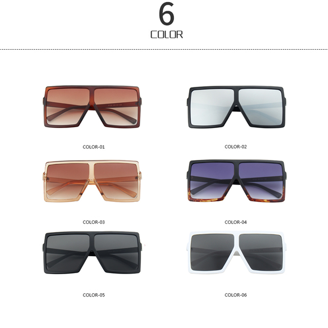 Vintage Gradient Shades Oversized Square Sun Glasses