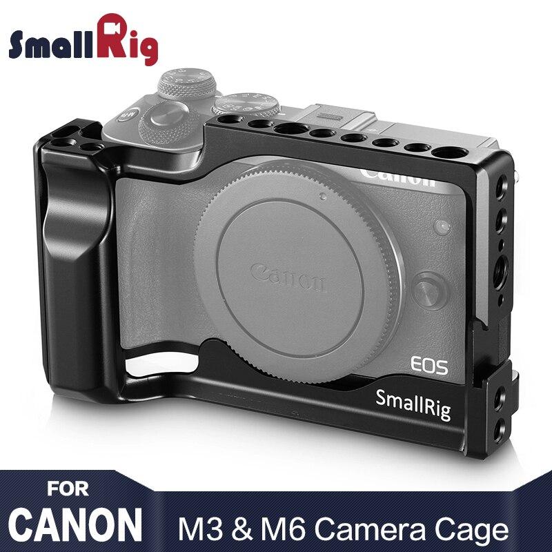 SmallRig DSLR Камера клетка для Canon EOS M3 и M6 облегающие свет Вес ячейки с НАТО Rail Холодный башмак 2130