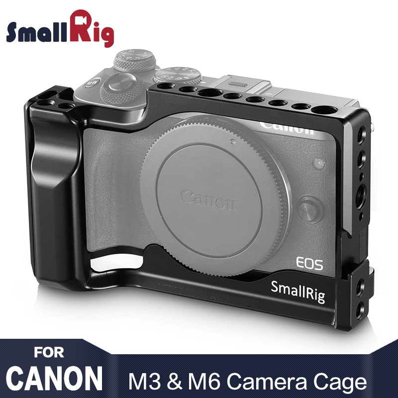 SmallRig DSLR Camera Cage for Canon EOS M3 and M6 Form Fitting Light Weight Cell With Nato Rail Cold Shoe Mount 2130