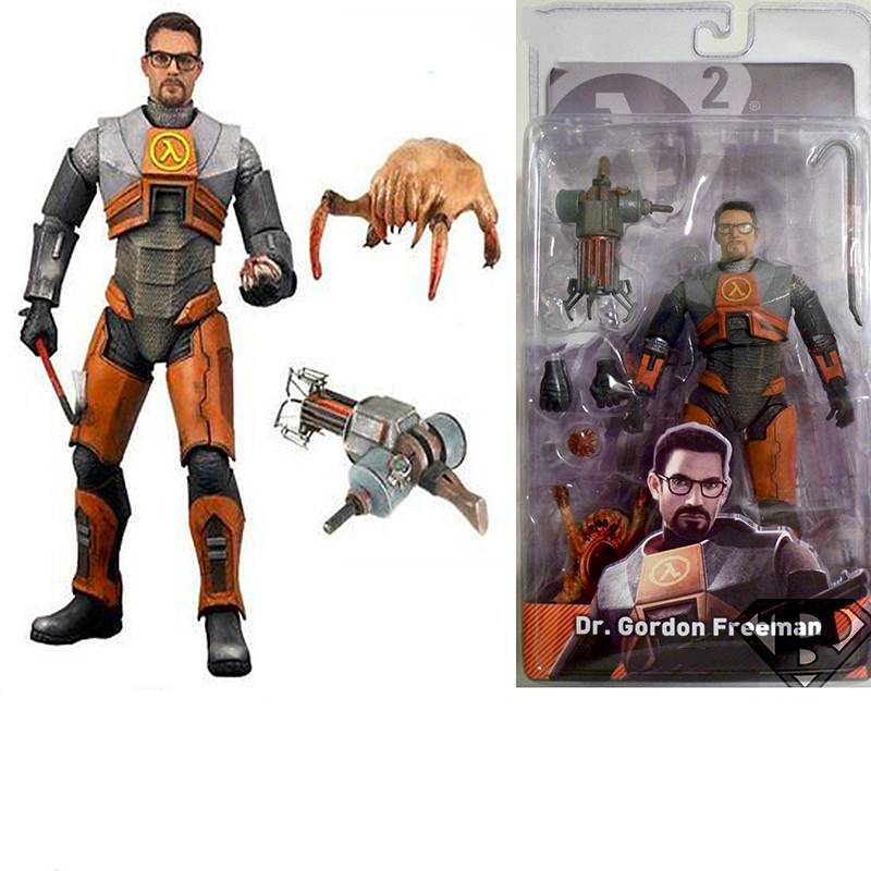 7inch Half-Life 2 Dr Gordon Freeman Gravity PVC Action Figure For Collections yanjun flip up stainless steel disability grab rail support handle bar bathroom safety aid hand rail steel anti slip foryj 2011