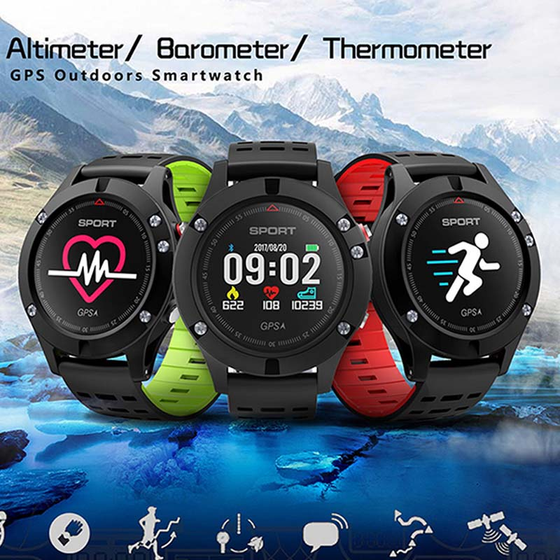 No.1 F5 Gps Smart Watch Altitude Barometer Thermometer Heart Rate Bluetooth 4.2 Smartwatch Wearable Devices For Ios Android smart baby watch q60s детские часы с gps голубые