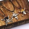 Anime Joyería de Moda One Piece Collar Collares Esqueleto de plata Colgante de Cuerda Collar de Cadena de Joyería de Los Hombres de alta calidad