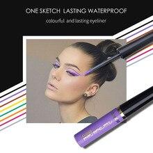 Горячая Распродажа, Матовая жидкая подводка для глаз, стойкая цветная подводка для глаз, карандаш, косметика, 16 цветов