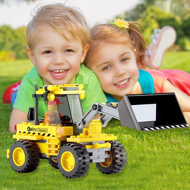 117pcs/set DIY Enlighten Child Educational Construction Bricks