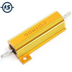 Высокомощный Алюминиевый резистор RX24 1R, 1 Ом, 50 Вт, резистор в металлическом корпусе, резистор теплоотвода, 5 шт./лот