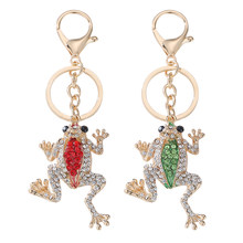 Unique Crown Frog Key Ring Keychain Fashion Metal Hand Bag Pendant Purse Bag Buckle Key Chains Holder Accessories Gift Keyring(China)