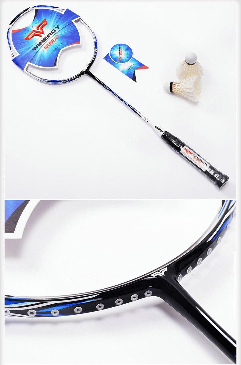 ФОТО one piece badminton racket racquet de badminton with string carbon  badminton racquet light racket 2016