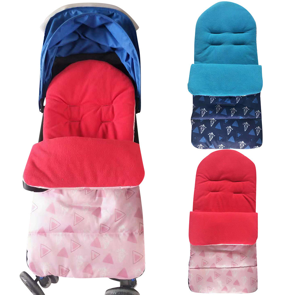 Yoyaplus Baby Stroller Footmuff Sleeping Bag Double Layers Polar Fleece Pram Foof Cover Sack Carriage Warm Winter Carseat Non-Ironing Strollers Accessories Mother & Kids