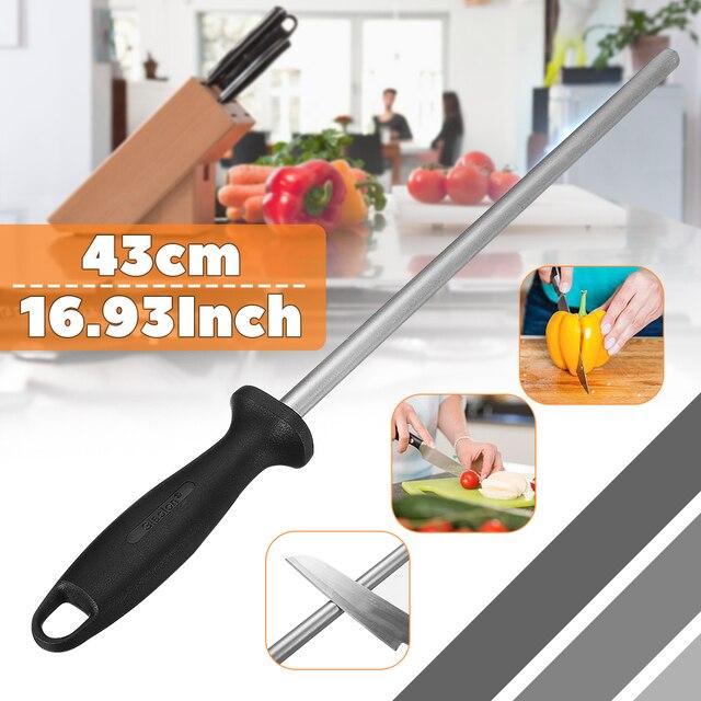 12 Inch Diamond Sharpening Steel Rod Sharpener Honing Stick 31cm Oval Less Risk 43cm Efficiency for Planer/Chisel