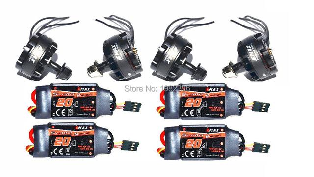 4pcs/set Emax MT2205 II 2300KV Motor CW+4pcs emax 20A blheli/simonk for Quad FPV QAV210 250 QAV-R220 MARTIAN 190230 255 Drone