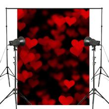 Red Heart-shaped Pattern Photography Backdrops Holiday Background Studio Props Wall Photography Background 150x220cm 150x220cm early morning scene backdrops istanbul landscape photography background studio props