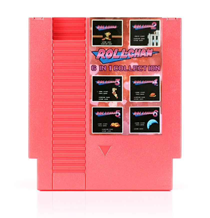 Best Seller !!! Roll Chan 6 In 1 RollChan 1/2/3/4/5/6 Game Card For 72 Pins 8 Bit TV Game Player