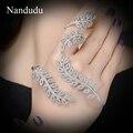 Nandudu novo design palm bracelet um anel de dedo estilo estrela de alta qualidade mão cuff r891r892