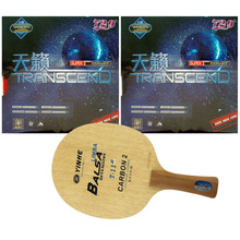 Pro Table Tennis/ PingPong Combo Racket: Galaxy YINHE T-11+ with 2x RITC 729 Friendship TRANSCEND CREAM Long Shakehand FL
