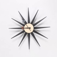 Free Shipping 48cm Sunburst Clock Originality Wall clock Nelson Morden Wood Clock