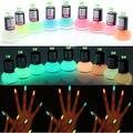 1 Unids Colores Candy Nail Lacas Fluorescente Luminoso de Neón Brillan En la noche Del Barniz de Clavo Del Polaco Del Arte