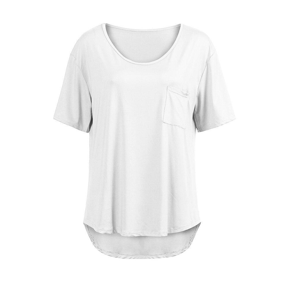 Camisa Con Verano blue Plus Tops Sólido Bolsillo Ropa Bolsillos white Manga  Tamaño Gran Corta Casual Black Para 5xl Blusa Mujer ... 519fa3758a1a7