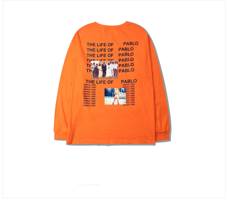 HTB1xALWQFXXXXc8XpXXq6xXFXXXR - Brand Kanye West T shirt I Feel like Pablo Kanye Orange Tee PTC 107