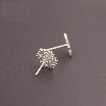 Snowflake 925 Sterling Silver Small Earrings3
