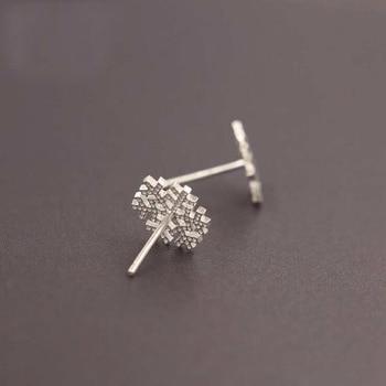 Snowflake 925 Sterling Silver Small Earrings3