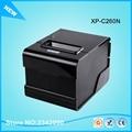 Супер Быстрый 80 мм POS тепловая чековый принтер законопроект принтер автообрезчик USB + LAN + Серийный 260 мм/сек. билет термопринтер поддержка QR-2D