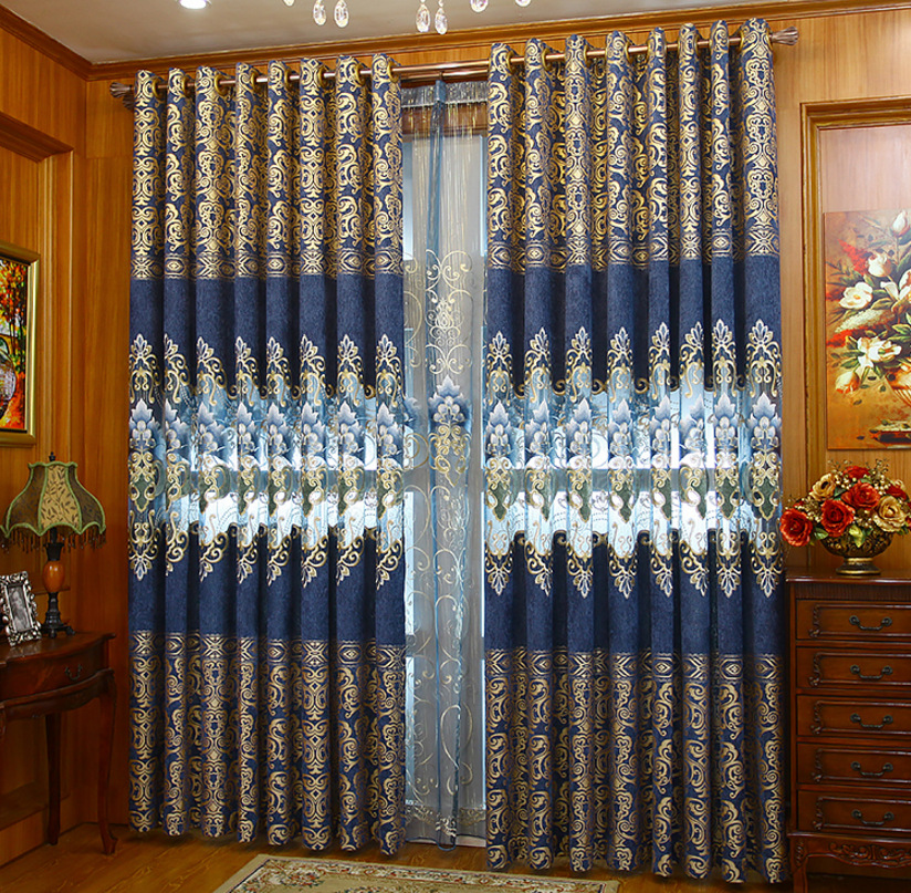 New Curtains For Dining Living Bedroom Room New High-end Water Soluble Hollow Chenille Embroidery Curtain Fabric