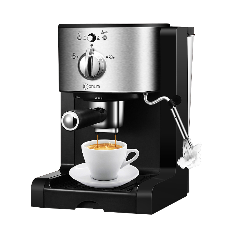 Donlim DL-KF500 Capsule coffee machine Household Espresso machine Semi-automatic Commercial Steam milk foam 20BAR free shipping the espresso machine use commercial semi automatic instant steam double charged coffee machine