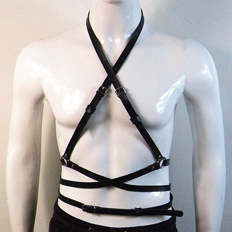 inlzdz Mens Vintage 4 Wide Strap Clips Suspender Tuxedo Garter Belts for Thigh High Stockings