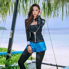 9f90be0a9665f Rhyme Lady High Quality three pieces Swimsuit Long Sleeve and long pants  Rash Guard 2018 girls Bathing suit