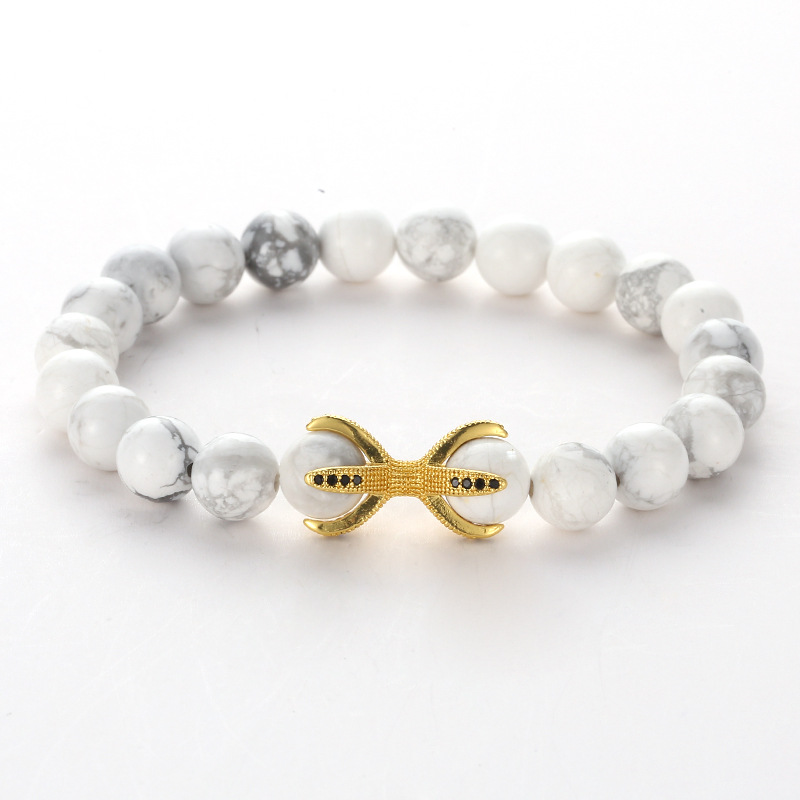 XiongHang New Natural Stone Beads Bracelet High Quality 4 Colors CZ 8 Claws Adorn Lava Stone beads Bracelet For Men Women