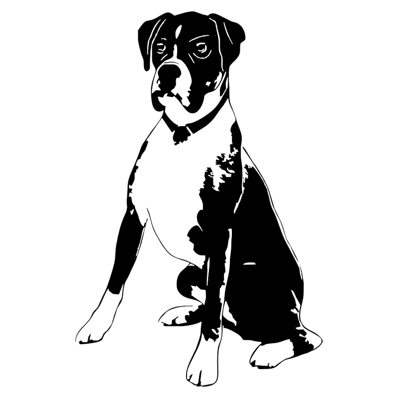 10 5 16cm Boxer Dog Vinyl Decal Personality Car Stickers