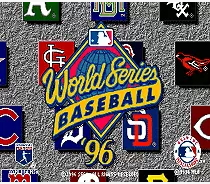 World Series Baseball 96 - 16 bit MD Games Cartridge For MegaDrive Genesis console