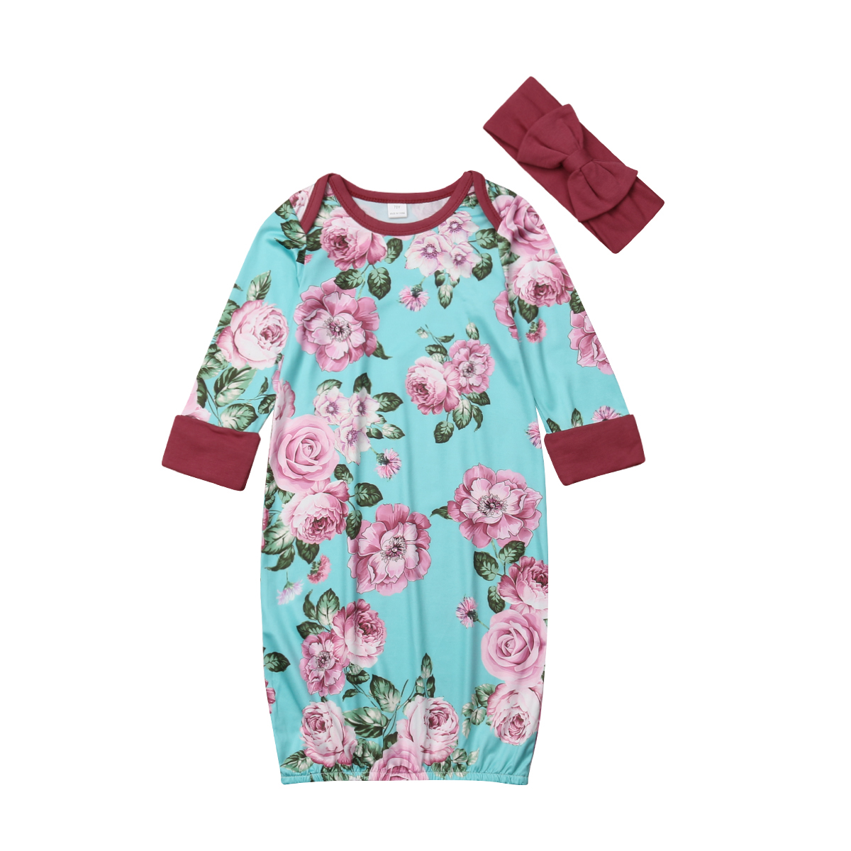 Cute Baby Girls Newborn Swaddle Long Sleeve Outfits Romper Blanket Lovely