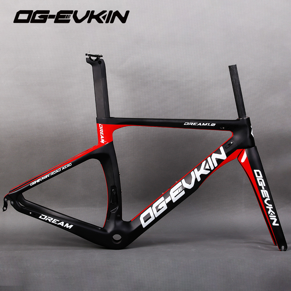 NEW OG-EVKIN carbon Bicycle road frame Di2 Mechanical racing bike carbon road frame 2018 road bike fork+seatpost+headset og evkin high quality super light carbon bike frame road china 3k glossy di2 49 52 54 56cm 2017 bb386