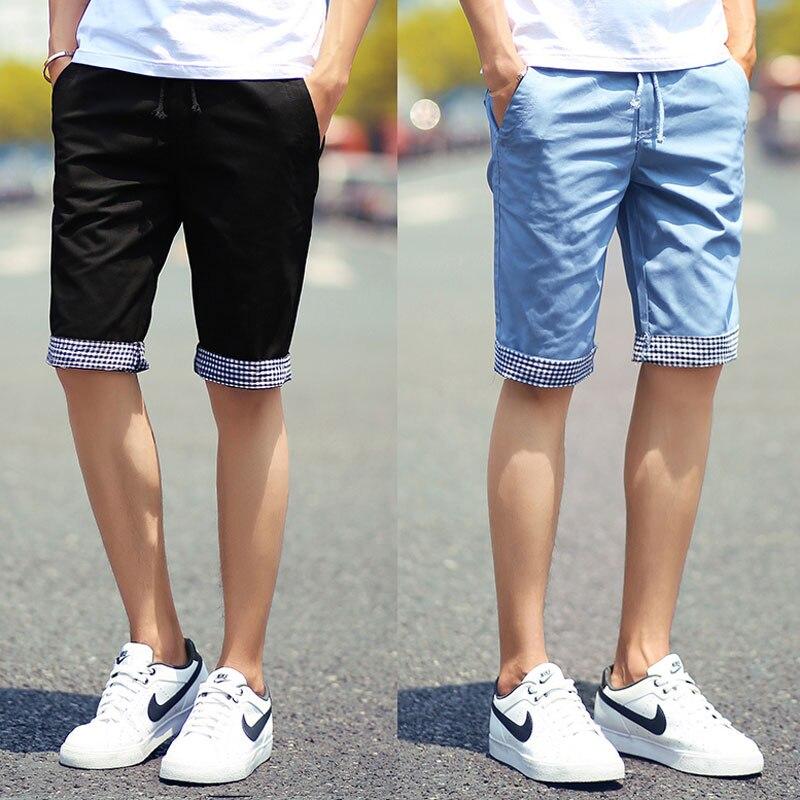 54e993ceabe9c Nuevo 2017 Summer Shorts Hombres Moda Casual Acanalada de Carga estilo de  Algodón Slim Fit Pantalones Cortos de Playa Para Hombre Shorts M a 3XL en  Casual ...