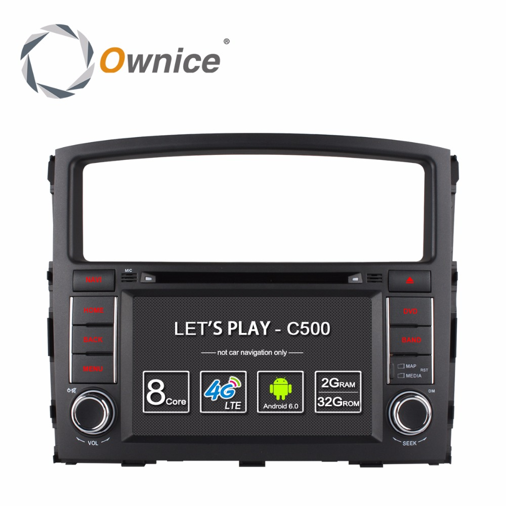 Ownice C500 Android 6.0 4 Г SIM <font><b>LTE</b></font> Quad Core Dvd-плеер Автомобиля для MITSUBISHI PAJERO V97 V93 С GPS Радио RDS 2 ГБ RAM 16 ГБ ROM
