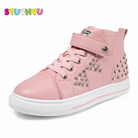 Fashion Leather Children S Diamond Casual Shoes 2017 Autumn Sports Shoes Pu High Quality Kids Baby