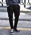 Бесплатная Доставка Новые уникальные дизайн брюки для мужчин корейских прохладные шаровары, модные уменьшают подходящие спортивные брюки, повседневные тренировочные брюки ГОРЯЧАЯ!