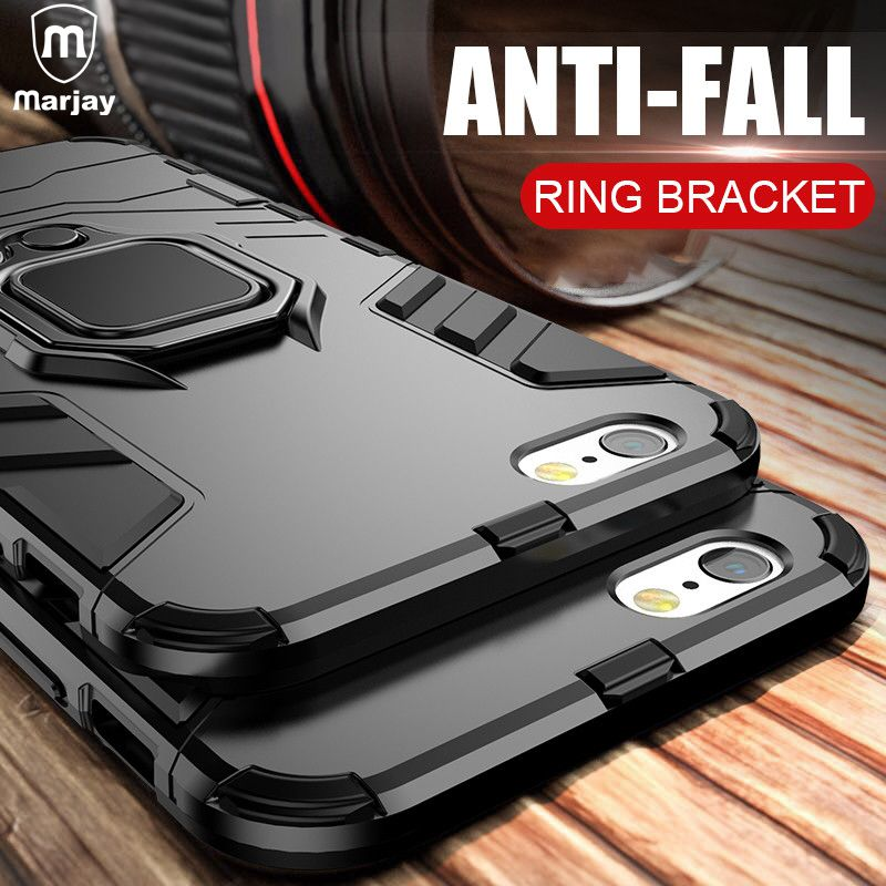 Luxury Armor Shockproof Phone Case For IPhone Xs Max X 7 6 6s 8 Plus Soft TPU Protective Cover For IPhone 5 5s Hard PC Back Case